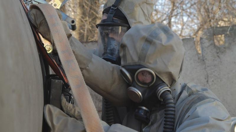 UTV. В Уфе спасатели ликвидировали последствия химической атаки