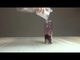 Перманганат калия с перекисью водорода