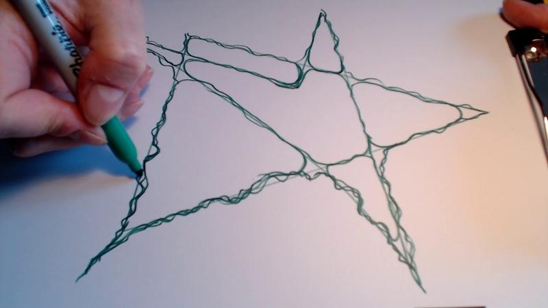 Нейрографика - рисуем звёзды!