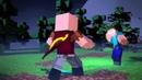 Notch против Herobrine - Minecraft Борьба анимации