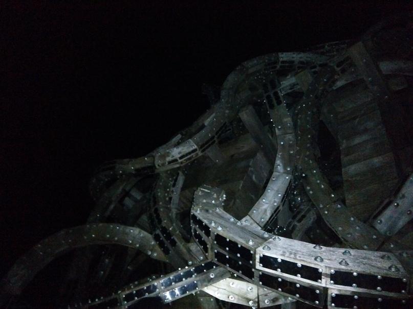 Парк Никола-Ленивец. Гигантские мозги в ночи.