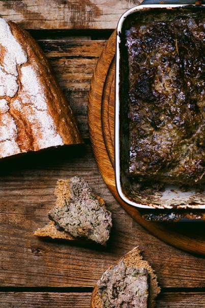 Террин с грибами и печенью