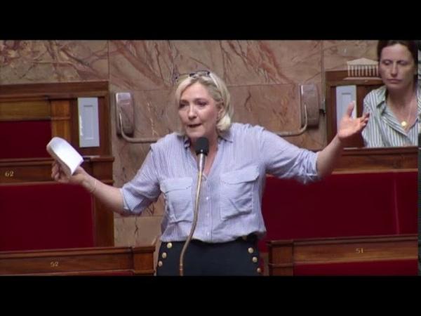Marine Le Pen intervient à lAssemblée nationale sur laffaire Benalla (22-23072018)