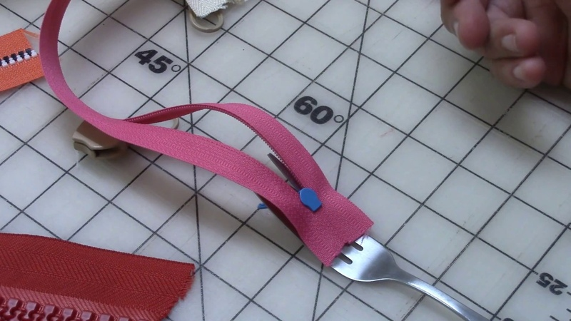 Fork Trick to Put Zipper Heads On