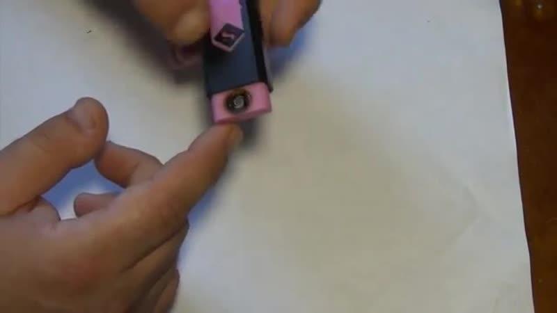 Электронная USB зажигалка c AliExpress за 1$, что внутри