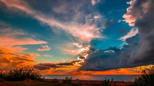 Heartwarming sunset ·
