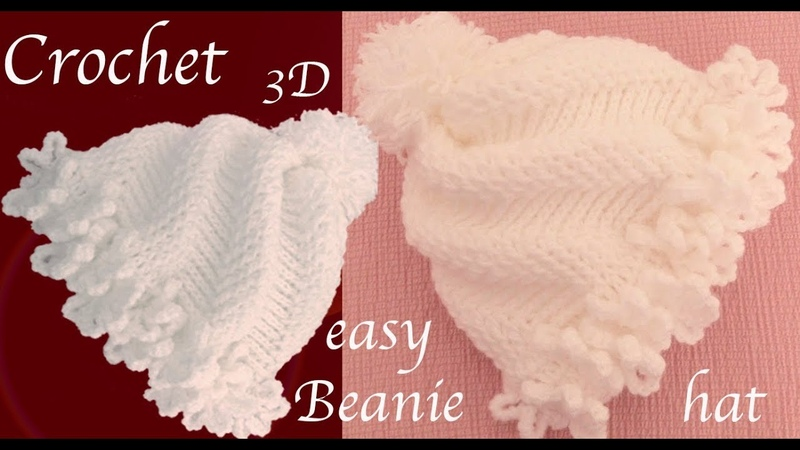 Gorro tejido con Gancho Crochet paso a paso en punto remolino de flores 3D tallermanualperu