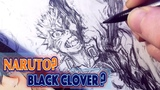 Drawing NARUTO As Black Clover Demon - Anime Manga Sketch
