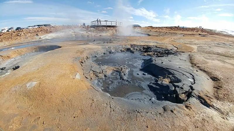 Грязевые вулканы в Исландии