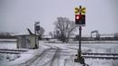 Spoorwegovergang Mnichovo Hradiště (CZ) Railroad crossing Železniční přejezd