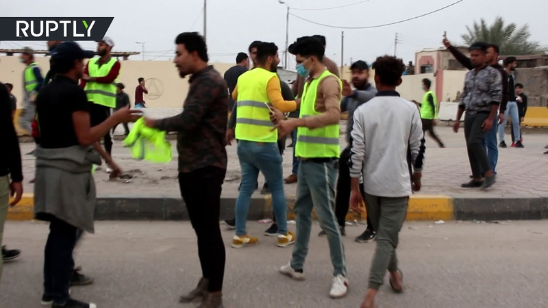 Yellow vests in Iraq Demo over poor living conditions dispersed by security forces in Basra