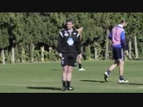 A clip of Ole Gunnar Solskjaer in training with Molde