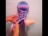 Урок для начинающих - коса на резиночках