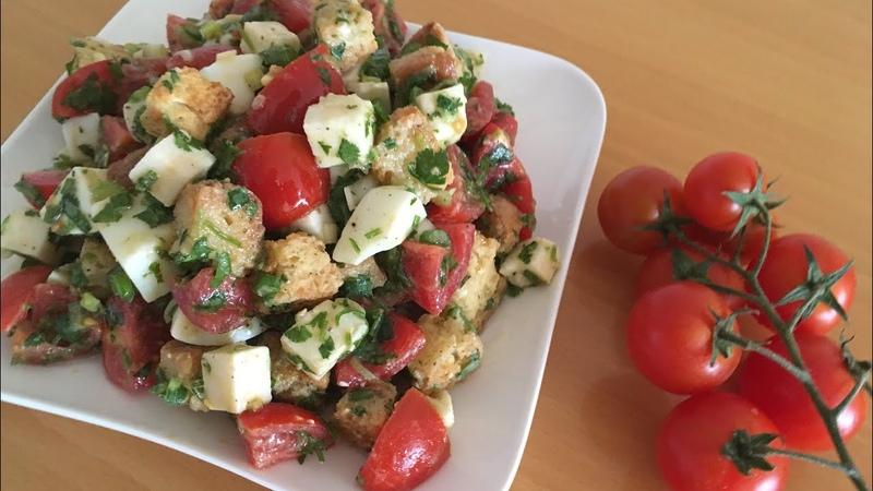 Лёгкий салат с сухарикамиYengil suxari qo'shilgan salat
