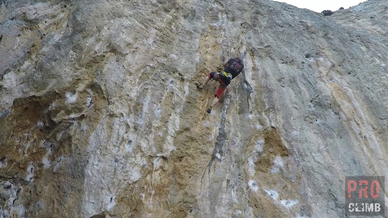 Rock climbing on Kalymnos. Polifemo, 7c
