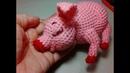 Розовый поросенок, ч.1. A pink pig, р.1. Amigurumi. Crochet. Амигуруми. Игрушки крючком.