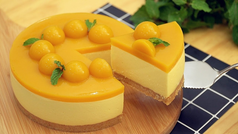 No-Bake Mango Cheesecake [Eggless] - マンゴーレアチーズケーキの作り方