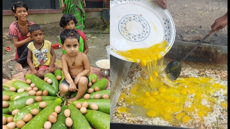 40 Gourds, Pulses Eggs Mashed So Tasty Village Food Charity Food For Villagers