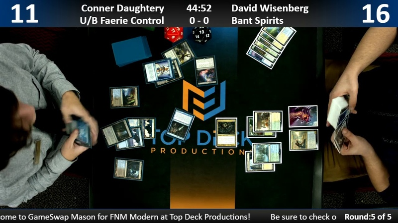 Modern FNM w Commentary 12 14 18 Conner Daughtery U B Faerie vs David Wisenberg Bant Spirits