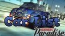 Burnout Paradise all cars and bikes
