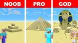 Minecraft NOOB vs PRO vs GOD SAND BASE CHALLENGE in minecraft Animation