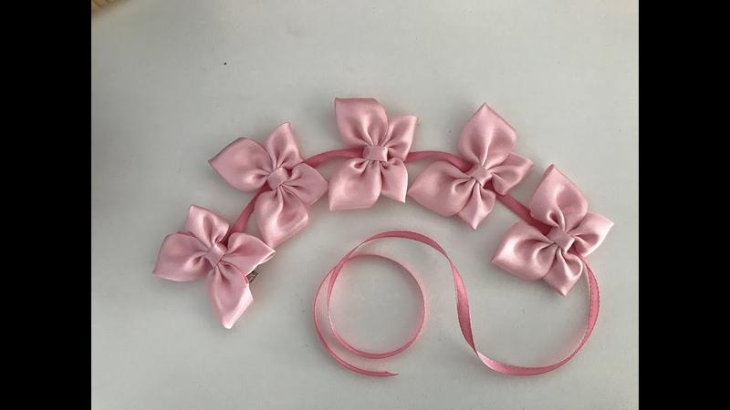 Лента в косу 🎀. Ribbon with flowers in braid 🎀. Cinta con flores en trenza 🎀