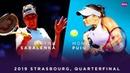 Aryna Sabalenka vs. Monica Puig 2019 Strasbourg Quarterfinal WTA Highlights