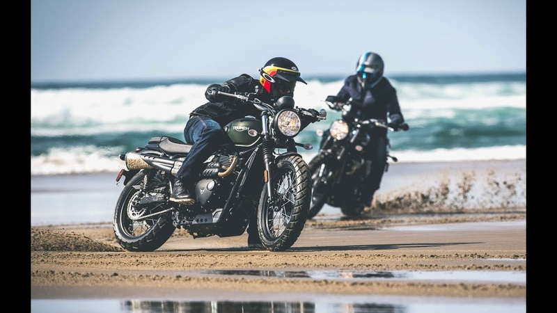 Thrashing on Triumph Scramblers!
