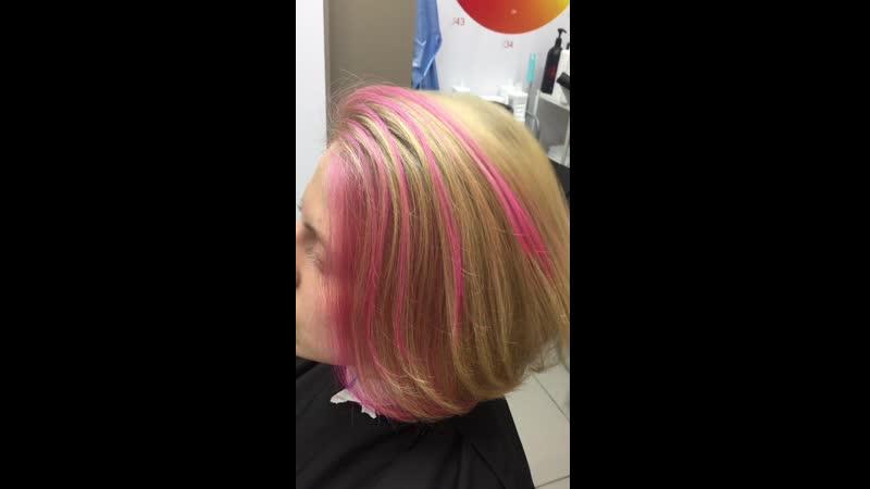 Окрашивание прядей SensiDo Match Розовый неон