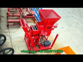 GL2-25 twin bricks semi automatic eco brava  interlocking clay block machine price in South Africa