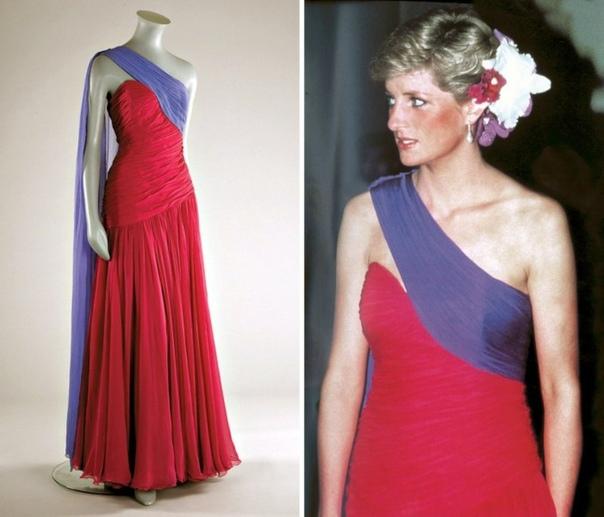 Одно из самых известных платьев принцессы Дианы выставили в музее Виктории и Альберта