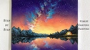 Camping Under the Stars STEP by STEP Acrylic Painting (ColorByFeliks)
