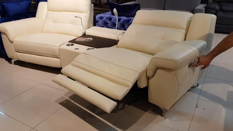 Кожаный диван Франческо с электро-реклайнерами в видео обзоре от Бенцони