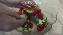 Обед Овощной салат с рукколой и винным уксусом
