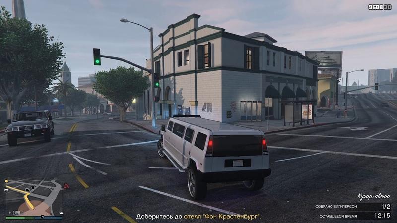 Привозим двух знаменитостей в клуб на лимузине GTA V Online