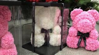Большой мишки из роз 40см i-prize.ru