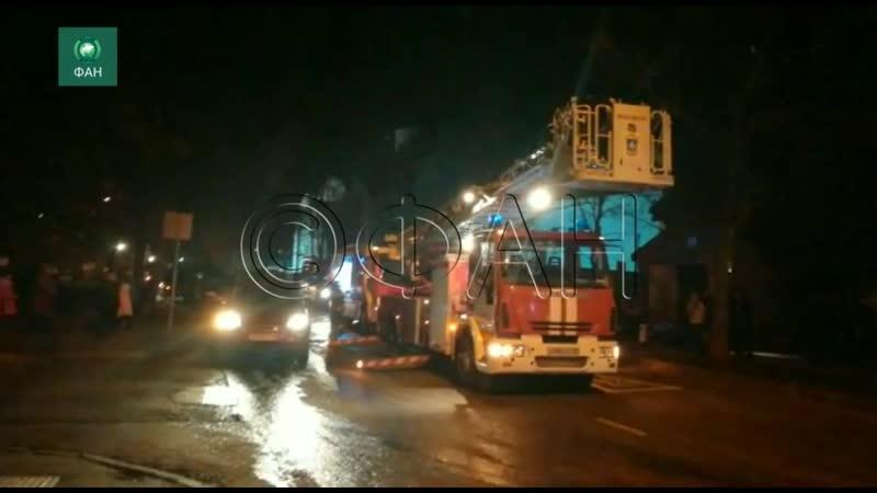 ФАН публикует видео с места пожара в храме на северо западе Москвы
