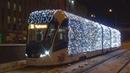 Новогодний трамвай 71-931М Витязь-М №31226 с маршрутом №38 Черемушки - 3-я Владимирская Улица