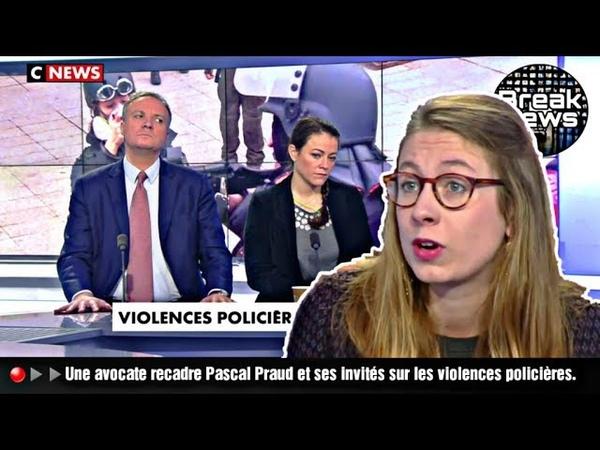 🔴▶▶Une avocate recadre Pascal Praud et ses invités sur les violences policières.