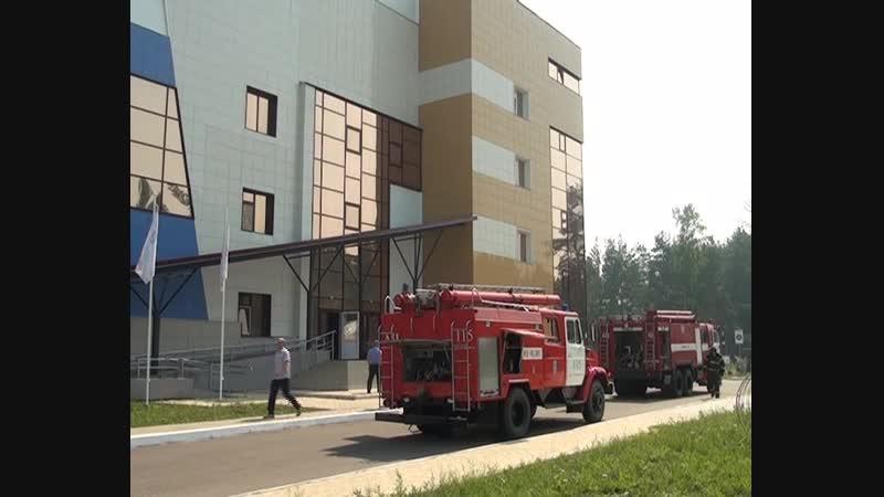 Пожарные учения в ФСЦ Енисей (11.07.2018)