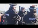 Веган-активист рассказывает полицейским о правах животных