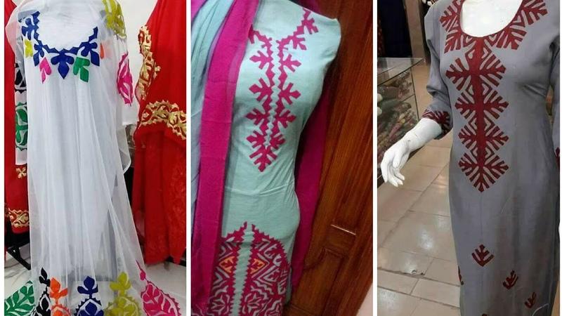 Latest Aplic Work Dress Designs 2018