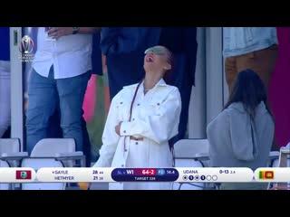Рианна на icc world cricket cup (01.07.2019)