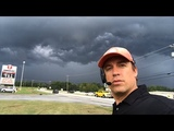 Live VLOG with storms near Greenville, SC heading to intercept Hurricane Florence