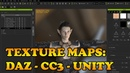 Exporting Texture Maps from DAZ and CC3 to Unity