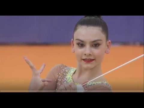 Лала Крамаренко лента многоборьеЧемпионат Европы Гвадалахара 2018