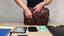 HAMILTON Кожаная мужская сумка + Часы в Подарок.