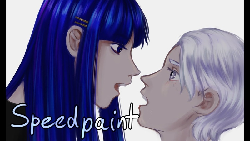 Houseki no kuni speedpaint - Lapis and Cairngorm