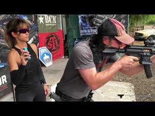 Keanu Reeves Training with Taran for John Wick_ Chapter 3 - Parabellum