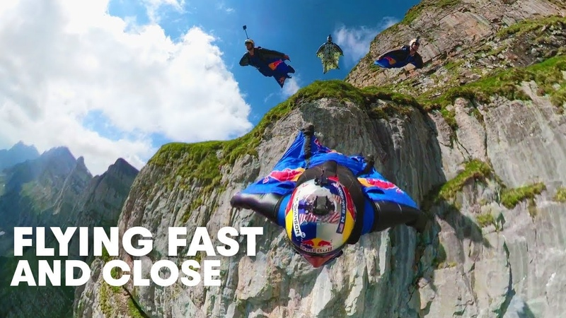 Wingsuit Flying Formation in The Crack   Miles Above 3.0